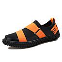 hesapli Erkek Düz Ayakkabıları ve Makosenleri-Erkek Ayakkabı PU / Elastik Kumaş Kış Günlük Mokasen & Bağcıksız Ayakkabılar Günlük için Siyah / Turuncu & Siyah / Zıt Renkli