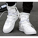 cheap Men's Sneakers-Men's Comfort Shoes Microfiber Spring &  Fall Sneakers White / Black
