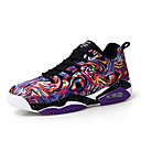 cheap Men's Sneakers-Men's Comfort Shoes Mesh / Synthetics Spring & Summer Sporty Athletic Shoes Basketball Shoes Non-slipping Color Block Black / Purple / Red