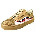 hesapli Erkek Sneakerları-Erkek Ayakkabı PU İlkbahar & Kış Spor Ayakkabısı Günlük / Dış mekan için Gri / Haki