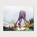 billige Oljemalerier-Hang malte oljemaleri Håndmalte - Abstrakt Pop Kunst Moderne Uten Indre Ramme