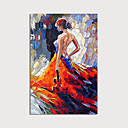 abordables Portraits-Peinture à l'huile Hang-peint Peint à la main - Abstrait Personnage Moderne Sans cadre intérieur / Toile roulée