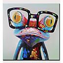 abordables Peintures Abstraites-Peinture à l'huile Hang-peint Peint à la main - Abstrait Pop Art Moderne Sans cadre intérieur / Toile roulée