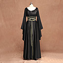cheap Steampunk-Witch Medieval Renaissance Costume Women's Dress Black Vintage Cosplay Long Sleeve Flare Sleeve Floor Length