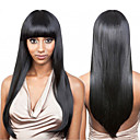 povoljno Perike s ljudskom kosom-Remy kosa Lace Front Perika stil Brazilska kosa Ravan kroj Perika 130% Gustoća kose 100% Djevica Žene Dug Perike s ljudskom kosom beikashang