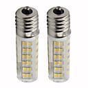 billige LED-kolbelamper-2pcs 4.5 W 450 lm E14 LED-kolbepærer T 76 LED Perler SMD 2835 Dæmpbar Varm hvid / Kold hvid 110 V
