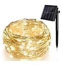 رخيصةأون طعم صيد الأسماك-10m أضواء سلسلة 100 المصابيح تراجع LED 1 مجموعة تركيب قوس أبيض دافئ / أبيض كول / لون متعدد الطاقة الشمسية / حزب / ديكور مدعوم بالطاقة الشمسية 1SET / IP65