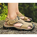 cheap Testers & Detectors-Men's Comfort Shoes Cowhide Summer Sandals Light Brown / Dark Brown / Khaki