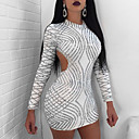 Χαμηλού Κόστους Γυναικείες Γόβες-Γυναικεία Πάρτι Βασικό Λεπτό Θήκη Φόρεμα - Μονόχρωμο, Εξώπλατο Μίνι / Sexy