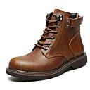 cheap Men's Boots-Men's Combat Boots Synthetics Winter Casual Boots Waterproof Mid-Calf Boots Black / Brown / Outdoor