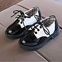 halpa Lasten lenkkarit-Poikien PU Oxford-kengät Taapero (9m-4ys) / Pikkulapset (4-7 vuotta) / Suuret lapset (7 vuotta +) Comfort Solmittavat Valkoinen / Musta 봄 & Syksy