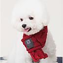 baratos Roupas para Cães-Cachorros / Gatos Echarpe para Cães Roupas para Cães Sólido Vermelho / Verde Fibras Acrilicas Ocasiões Especiais Para animais de estimação Masculino / Feminino Fashion