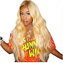 povoljno Perike s ljudskom kosom-Remy kosa Lace Front Perika Asimetrična frizura Wendy stil Brazilska kosa Prirodno ravno Plavuša Perika 130% Gustoća kose Modni dizajn Nježno Sexy Lady Cool Udobnost Žene Kratko Dug Perike s ljudskom