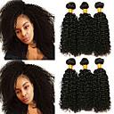 povoljno Perike s ljudskom kosom-6 paketića Brazilska kosa Kinky Curly Remy kosa Headpiece Ljudske kose plete Produžetak 8-28 inch Prirodna boja Isprepliće ljudske kose Dizajni Najbolja kvaliteta Cool Proširenja ljudske kose
