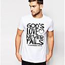 billige Projektorer-Rund hals Herre - Geometrisk / Farveblok T-shirt Rosa XL / Kortærmet