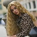 voordelige Kanten pruiken van echt haar-Pruik Lace Front Synthetisch Haar Watergolf Blond Middelste stuk Aardbeien Blond Synthetisch haar 22-26 inch(es) Dames Zacht / Hittebestendig / Dames Blond Pruik Lang Lijmloze / Kanten Voorkant