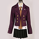 abordables Disfraces de Videojuegos-Inspirado por Danganronpa Kyoko Kirigiri Animé Disfraces de cosplay Trajes Cosplay Británico / Contemporáneo Chaqueta / Blusa / Top Para Hombre / Mujer