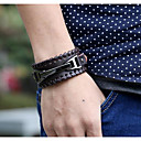 cheap Men's Bracelets-Men's Vintage Style Vintage Bracelet Leather Bracelet Vintage Bracelet Jewelry Black / Brown For Festival