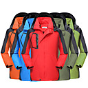 cheap Softshell, Fleece & Hiking Jackets-Men's Women's Hiking Jacket Outdoor Waterproof Thermal / Warm Windproof Spring Fall Winter Tracksuit Coverall Skiing Camping / Hiking Leisure Sports Orange Red Arm Green XXL XXXL 4XL
