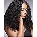 povoljno Perike s ljudskom kosom-Virgin kosa Lace Front Perika Duboko udaljavanje Rihanna stil Brazilska kosa Kovrčav Crna Perika 250% Gustoća kose s dječjom kosom Prirodno Najbolja kvaliteta Gust s isječkom Žene Srednja dužina