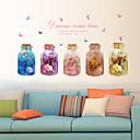 ieftine Acțibilde de Perete-Autocolante de Perete Decorative - Autocolante perete plane Floral / Botanic Sufragerie / Dormitor / Bucătărie