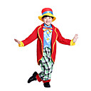 cheap Ethnic & Cultural Costumes-Burlesque Clown Circus Party Costume Kid's Boys' Funny & Reluctant Halloween Christmas Halloween Carnival Festival / Holiday Polyster Red Carnival Costumes Plaid / Checkered