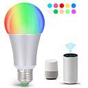 billige LED smartpærer-KWB 1pc 7 W 700 lm E26 / E27 Smart LED-lampe A19 22 LED perler SMD 5730 Smart / APP-kontroll / Timing RGBW 100-240 V