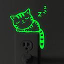 levne Samolepky na zeď-Samolepky na spínač světla - Světelné samolepky na zeď Zvířata Obývací pokoj / Ložnice / Koupelna