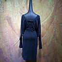 cheap Ballroom Dancewear-Latin Dance Dresses Women's Performance Linen / Cotton Blend Ruching Long Sleeve Dress