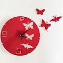 levne Nástěnné hodiny-Moderní styl Plastic & Metal Kulatý Indoor / Outdoor