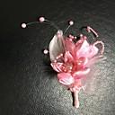 preiswerte Parykopfbedeckungen-Hochzeitsblumen Knopflochblumen Hochzeit / Hochzeitsfeier Gänsefeder / Stoffe 13 cm ca.