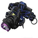 رخيصةأون المصابيح اليدوية وفوانيس الإضاءة للتخييم-مصابيح أمامية LED LED 1 بواعث 1800 lm 3 إضاءة الوضع مع البطاريات والشواحن ضد الماء قابلة لإعادة الشحن Camping / Hiking / Caving Everyday Use أخضر