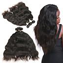 abordables Tissage Naturel-Lot de 3 Cheveux Brésiliens Ondulation Naturelle Cheveux Naturel Rémy Extensions Naturelles 8-22 pouce Tissages de cheveux humains Doux Meilleure qualité Nouvelle arrivee Extensions de cheveux