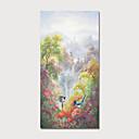 halpa Abstraktit maalaukset-Hang-Painted öljymaalaus Maalattu - Maisema Kukkakuvio / Kasvitiede Moderni Sisällytä Inner Frame