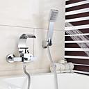 ราคาถูก ก๊อกอ่างอาบน้ำ-ก๊อกน้ำฝักบัว / ก๊อกอ่างอาบน้ำ - ร่วมสมัย มีสี ติดผนัง Ceramic Valve Bath Shower Mixer Taps