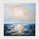 povoljno Apstraktno slikarstvo-Hang oslikana uljanim bojama Ručno oslikana - Sažetak Pejzaž Moderna Uključi Unutarnji okvir