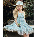 preiswerte Zubehör für Puppen-Kinder Mädchen Grundlegend Punkt Ärmellos Kleid Rosa