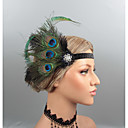 cheap Historical & Vintage Costumes-Feathers Headbands / Headdress / Headpiece with Rhinestone / Crystal / Feather 1 pc Wedding / Party / Evening Headpiece