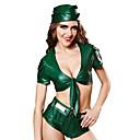 Χαμηλού Κόστους Συνθετικές περούκες με δαντέλα-Ναυτικό Broadway Ο μεγαλύτερος αθλητής Χορός μεταμφιεσμένων Γυναικεία Στολές Ηρώων Ταινιών Πράσινο Κορυφή Παντελόνια Ζώνη Halloween Απόκριες Μασκάρεμα Πολυεστέρας