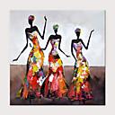 abordables Peintures Abstraites-Peinture à l'huile Hang-peint Peint à la main - Abstrait Personnage Moderne Sans cadre intérieur