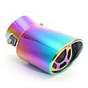tanie DVR samochodowe-Uniwersalna zakrzywiona tylna końcówka tłumika wydechu 60mm ze stali nierdzewnej