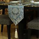 זול כיסויי שולחן-עכשווי לא ארוג ריבוע ראנר לשולחן מעוטר לוח קישוטים