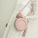 cheap Crossbody Bags-Women's Tassel PU Shoulder Messenger Bag Black / Brown / Wine