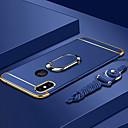 billige iPhone-etuier-Etui Til Apple iPhone XS / iPhone XS Max Belægning / Ringholder / Ultratyndt Bagcover Ensfarvet Hårdt PC for iPhone XS / iPhone XR / iPhone XS Max