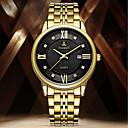 abordables Babydoll y Slip-Hombre Reloj de Vestir Cuarzo Acero Inoxidable Plata / Dorado Resistente al Agua Calendario Creativo Analógico Casual Moda - Negro Plata Oro + negro