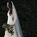 preiswerte Hochzeitsschleier-Einschichtig Europäischer Stil Hochzeitsschleier Kapellen Schleier mit Perlenstickerei Baumwolle / Nylon mit einem Hauch von Stretch