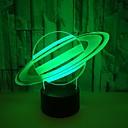 billiga LED-ljusslingor-usb powered konstigt nattljus 3d planet visuell bordslampa energibesparande ögonvård ledde ljusbordslampa för vardagsrum <5v>