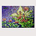 povoljno Slike za cvjetnim/biljnim motivima-Hang oslikana uljanim bojama Ručno oslikana - Ljudi Religiozno Vintage Tradicionalno Bez unutrašnje Frame / Valjani platno