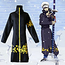 cheap Videogame Costumes-Inspired by One Piece Trafalgar Law Anime Cosplay Costumes Cosplay Suits Print Cloak / Hat For Men's