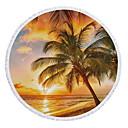 hesapli Kumsal Havlusu-Kadın's Kahverengi Etek Örtü Mayolar - Çiçekli Püskül Tek Boyut Kahverengi